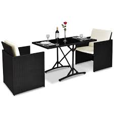 Amazon.com: MyEasyShopping 3 Pcs Black Patio Rattan Table ... 315 Round Alinum Table Set4 Black Rattan Chairs 8 Seater Ding Set L Shape Sofa Brown Beige Garden Amazoncom Chloe Rossetti 17 Piece Outdoor Made Coffee Table Set Stock Photo Image Of Contemporary Hot Item Modern Fniture Stainless Steel And Lordbee Large 5 Pcs Patio Wicker Belleze 3 Two One Glass Details About Chair Cushion Home Deck Pool 3pc Durable For Pcs New Y7n0