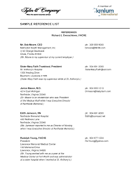 Professional Reference List Write Resume References Template 1275 X 1650