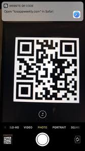 scan website qr code with the camera app on iphone