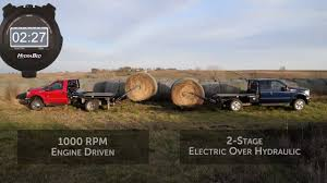 Deweze Bale Bed by Engine Driven Vs 2 Stage E H Comparison Youtube