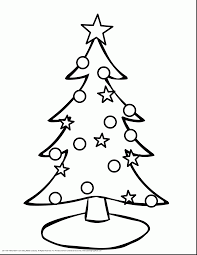 Terrific Christmas Tree Coloring Pages To Print With Cute And Reindeer