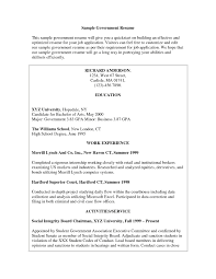 Resume Format For Government Job Stunning Sample Canadian Jobs