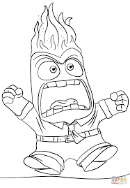 Click The Inside Out Anger Coloring Pages To View Printable Version Or Color It Online Compatible With IPad And Android Tablets