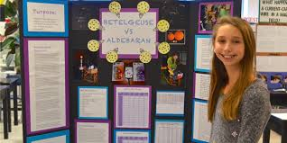 Ashleigh With Her 6th Grade Science Fair Project Display Board
