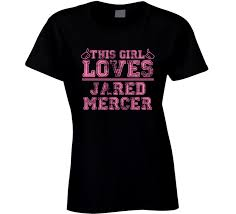 This Girl Loves Jared Mercer The Shadow Club Favorite Novel Character Book Cool Fan T Shirt