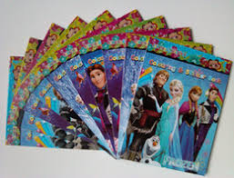 Frozen Anna Elsa DIY Colouring Notebook And Sticker 1115cm Baby Coloring Book Children Puzzle Painting Kids Holiday Gift 12 1 Lot