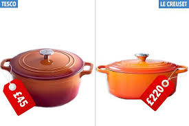 le creuset pots prices tesco are now selling orange cooking pots just like le creuset