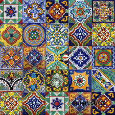 100 mexican tiles mix home kitchen