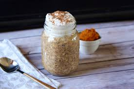 Pumpkin Pie Protein Overnight Oats by Pumpkin Pie Overnight Oats With Maple Coconut Cream U2022 Good Thyme