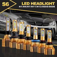 auxmart s6 h4 h7 h11 9005 9006 h13 h1 led headlight car light