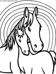 Realistic Horse Coloring Pages Online Horses Pdf Printable For Adults Colouring Ponies