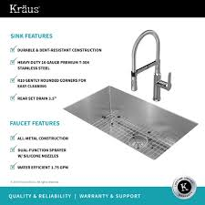Commercial Undermount Sink by Stainless Steel Kitchen Sink Combination Kraususa Com