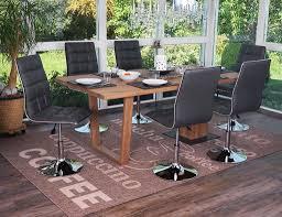 vidaxl 6x esszimmerstuhl drehbar kunstleder weiß küchenstuhl