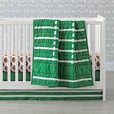 nod football crib bedding the land of nod