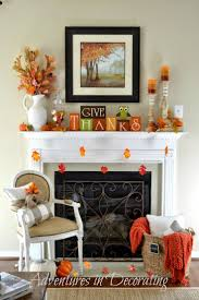 fall mantel from adventures in decorating simplyfreshvintage com
