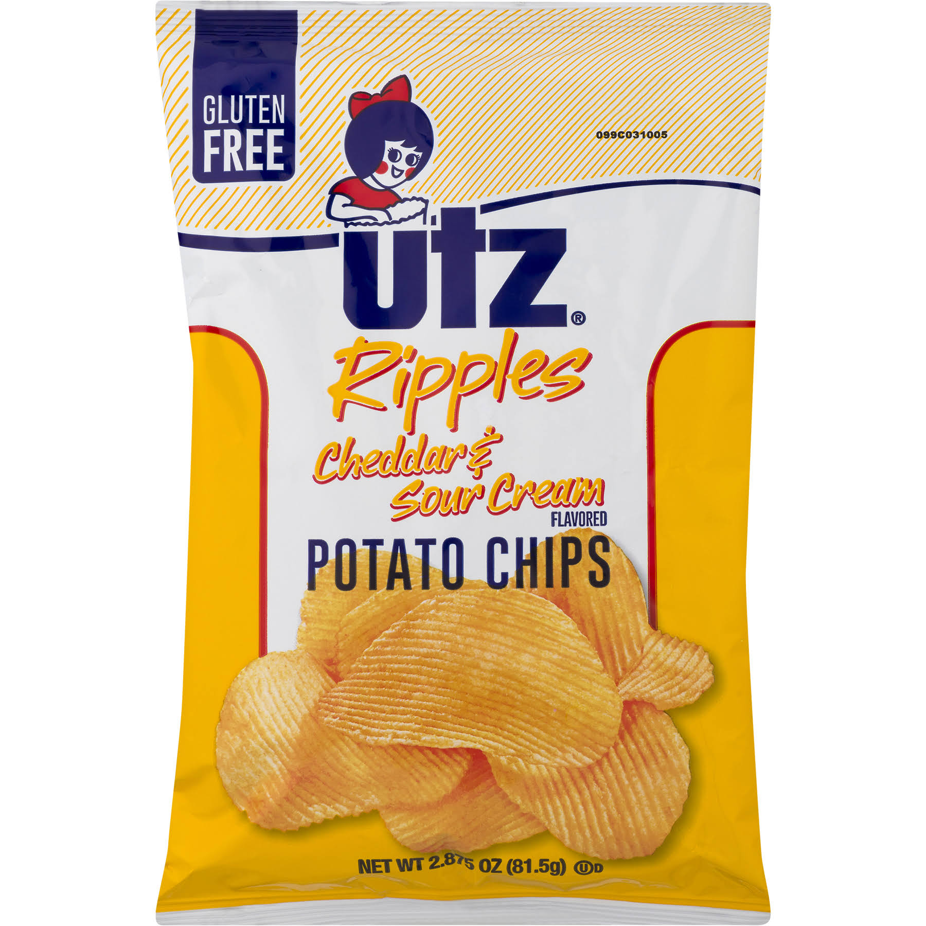Utz Potato Chips - Cheddar and Sour Cream, 2.87oz