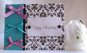 Birthday Card Idea Using Black White And Teal