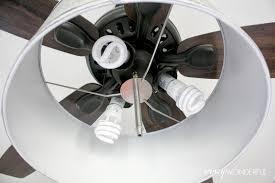 Hampton Bay Ceiling Fan Glass Dome by Diy Drum Shade Ceiling Fan Crazy Wonderful