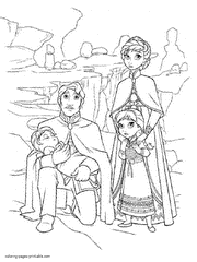 Sisters Princesses Free Frozen Printable Coloring Book