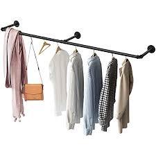 greenstell kleiderstange zur wandmontage wand kleiderständer im industrie rohr stil rustikaler wandaufhänger für schlafzimmer wohnzimmer