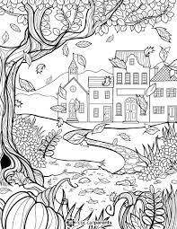 A Fall Colouring Sheet For Adults