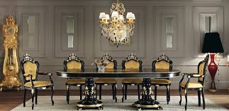 Design With Round Dining Table Luxury Formal Room And Classic Italian Nuance 8461 House