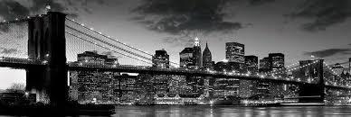 poster noir et blanc du pont de à new york acheter