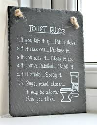 Funny Bathroom Framed Art by The Toilet Rules A Must Have For Any Bathroom Dominated By Boys