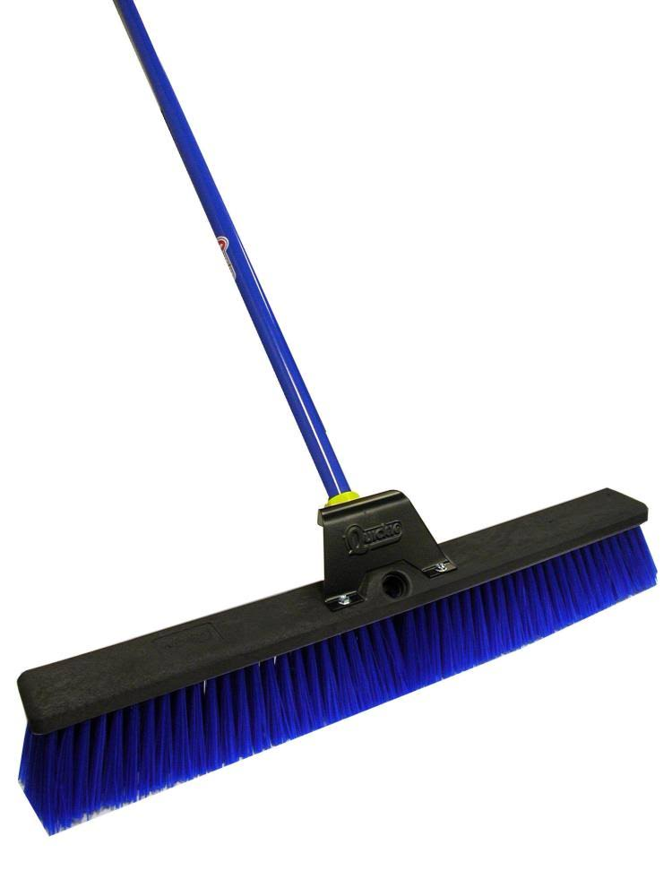 Quickie Bulldozer Super Stiff Poly Fiber Push Broom - 24""