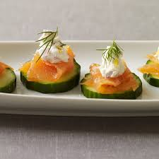 healthy canapes recipes smoked salmon and cucumber canapes healthy recipes