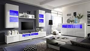 pmmarket wohnzimmer hochglanz möbel display wohnwand