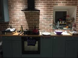 parement cuisine pose d une cuisine et mur de parement en brique les monts d aunay