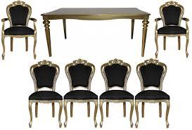 casa padrino barock luxus esszimmerset schwarz gold barock