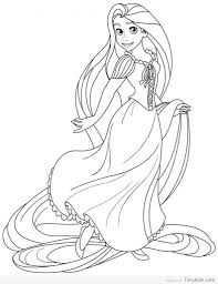 Disney Princess Coloring Pages Rapunzel And Flynn