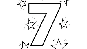 Seven Stars Shine In The Sky Help Your Grandkids Practice Numbers With This Free Printable Coloring Page