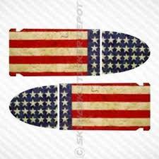 American Flag 9MM Bullet Set Vinyl Decal Bumper Sticker Molon Labe Car Truck Gun
