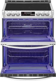 Ft Self Cleaning Slide In Double Oven Electric Convection Range Silver LTE4815ST
