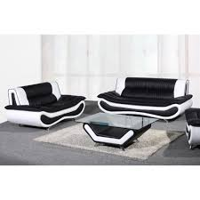 Ethan Allen Leather Sofa Peeling by Arianna Black And White Bonded Leather Sofa And Loveseat Set