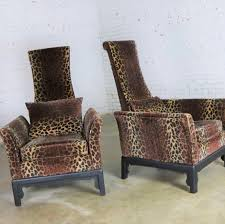 Pair Hollywood Regency High Back Chairs In Velvet Animal ... Hollywood Regency Vintage Louis Xvi Style Pair Of High Back 1960s Tufted Ivory Velvet Armchair Chairs In Animal Hollywood Regency Retro 70s Highback Arm Mid Century Attributed To Adrian Pearsall For Craft A Set 2 Everything You Need To Know About Design Palma Lounge Chair Green Xk64 Advancedmasgebysara
