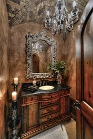 Tuscan Decorating Ideas For Bathroom by Glamorous Powder Room With Brick Groin Vault Ceiling In Paradise