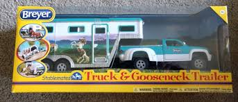 Breyer 5356 Stablemates Pick-Up Truck And Gooseneck Trailer | EBay John Deere Toys Monster Treads Pickup Hauler With Horse Trailer At Breyer Stablemates Animal Rescue Truck The Play Room 5356 Pickup And Gooseneck Ebay Giddy Up Go 701736 Dually Identify Your Accsories 132 Model By Loading Mini Whinnies Horses In Ves Car Drama At Show