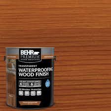 Longest Lasting Deck Stain 2017 by Behr Premium 1 Gal Redwood Transparent Waterproofing Wood Finish