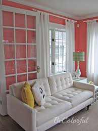 Coral Colored Decorative Accents by White Sofa Against Coral Walls Jpg Paint Colors Pinterest
