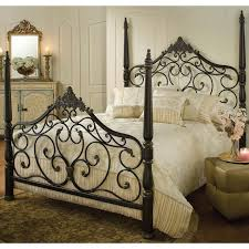 Wrought Iron And Wood King Headboard by Iron Headboards Canada 14833