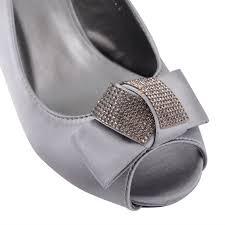 womens ladies mid heel diamante slingback peep toe bridal sandals