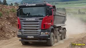 Scania R420 Dump Truck - Driving At The Quarry - YouTube