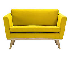 petits canapes petit canapé fifties chêne massif et jaune l120 product