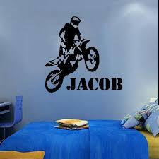 custom name vinyl decals motorbike motocross wall decal wall