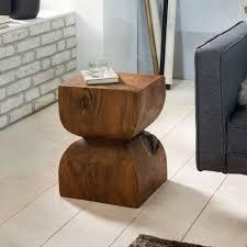 finebuy beistelltisch fb43540 sheesham vollholz 30x45x30cm rustikaler deko tisch blumentisch holztisch klein sofa anstelltisch braun kleiner