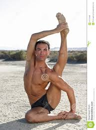 Male Yoga Pose Concentration Athletic